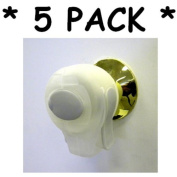 KidCo Door Knob Lock ** 5 PACK ** (CLEAR) plus ** BONUS ** Tooth Tissues!