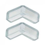 Amico Clear Blue Soft Plastic Desk Corner Safety Pad Protector