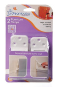 Dreambaby 2 Pack Furniture Straps, White