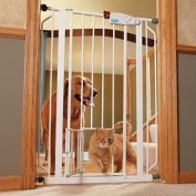 Extra Tall Walk Thru Gate with Pet Door Gate Expands 29 quot 40 quot Wide x 41 quot Tall Pet door is 7 W x 10 H