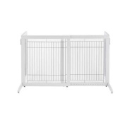 Freestanding Pet Gate HS White 71.9cm - 119.9cm x 59.9cm x 70.1cm