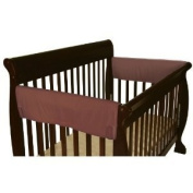 Leachco Easy Teether XL Side Crib Rail Cover, 2 Pack, Brown