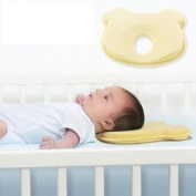 Baby Infant Head Rest Support Cotton Pillow Memory Foam Prevent Flat Little Bear