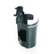 phil & teds Thirsty Works Cup Holder for Vibe/Smart Strollers, Black