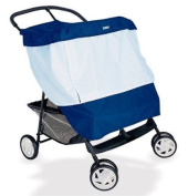 BabyShade® Double Stroller Cover Protects Infants in Canopied Twin Strollers from Sun, Rain, Wind and Flying Insects