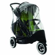phil & teds Stormy Weather Cover for Double Dot Stroller, Clear