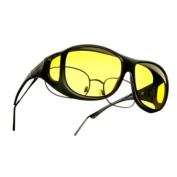 Cocoons Fit-Overs Polarised Lenses - Black Frame with Yellow Lens