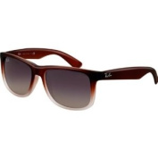 Ray-Ban RB4165 Justin Highstreet Sports Sunglasses/Eyewear - Brown Gradient Transparent/Grey Gradient / Size 54mm