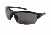 """""""STONE CREEK"""" men's Bifocal Sunglasses with low-profile, wrap-around sports design for youthful and active men who need magnification to read cell phones, maps, directions, etc. while they drive, work, read, travel or play sports in the sun"""