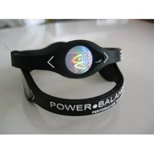 power balance silicone wristband bracelet medium black w. Black Bedroom Furniture Sets. Home Design Ideas