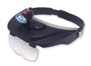 Carson Pro Series MagniVisor Head-Worn LED Lighted Magnifier with 4 Different Lenses