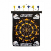 San Diego Chargers Magnetic Dart Board Set