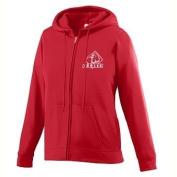 Girls Wicking Fleece Full Zip Sweatshirt - RED - MEDIUM