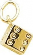Rembrandt Charms Die Charm, 10K Yellow Gold