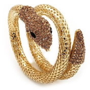 Dazzling Coil Flex Snake Bangle Bracelet