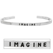 Stackable Sterling Silver Friendship Bracelet - Imagine