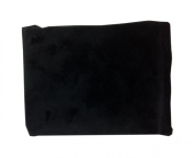 American Baby Company Heavenly Soft Chenille Contoured Changing Table Cover in Black