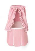 Badger Basket Empress Round Baby Bassinet - Pink Bedding with White Pleats