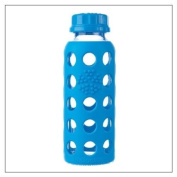 Lifefactory Glass Baby Bottle with Silicone Sleeve, 270ml