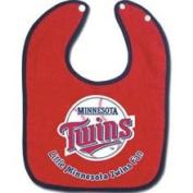 Minnesota Twins Two-Toned Snap Baby Bib