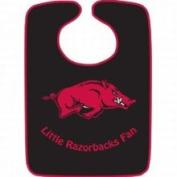 Caseys Distributing 9960603824 Arkansas Razorbacks Two-Toned Snap Baby Bib