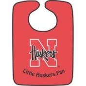 Nebraska Huskers Two-Toned Snap Baby Bib