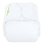 bumGenius Freetime All-In-One One-Size Snap Closure Cloth Nappy - White