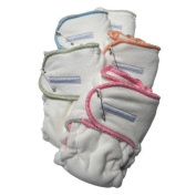 Sustainablebabyish Snapless Multi Fitted Cloth Nappies - Lilac