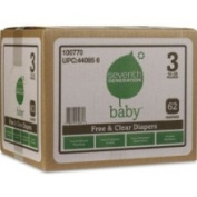 Seventh Generation Baby Nappy Super Jumbo, Stage 3, 62 Count