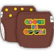 FuzziBunz Nappy Talk Cloth Is Cool Nappy - Choco Truffle