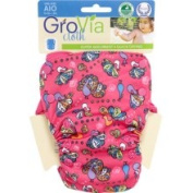 GroVia One-Size All-in-One Snap Nappy - Peacocks