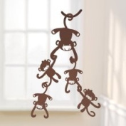 Lambs and Ivy Ceiling Sculptures Brown Monkey