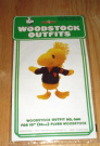 Peanuts Snoopy Best Friend Woodstock Outfits for 25cm Plush Woodstock - Letter Sweater Outfit