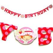 Strawberry Shortcake Party Birthday Banner