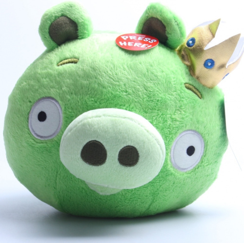 Angry birds 20cm deluxe plush toy king pig shipping is free ebay - Angry birds toys ebay ...