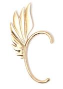 Hermes Wing Ear Cuff Metal Wrap Gold Tone Angel Fairy Feather Earring Fashion Jewellery