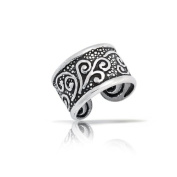 Bling Jewellery Oxidised Celtic Tribal Ear Cuff One Piece 925 Sterling Silver