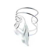 Bling Jewellery 925 Sterling Silver Stylized Leaf Vines Ear Cuff Left Ear