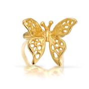 Bling Jewellery Gold Vermeil Open 3D Butterfly Right Ear Cuff 925 Sterling Silver
