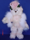 Victorian Pink Teddy Bear Hat Lady Dressed Plush Stuffed Animal Toy, 25cm Tall, Jointed