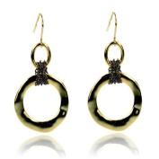 Designer Inspired Gold Hematite Earrings Fashion Jewellery