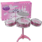 7pc Plastic Pink Big Happy Band Toy Drum Set