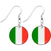 Italy Flag Earrings