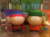 South Park Kidrobot Stan & Kyle Set 2 New W/Boxes, Foil, Cards & Accessories Sealed