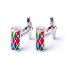316L Stainless Steel Men Cuff Link Colourized Column CuffLinks