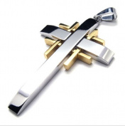 K Mega Jewellery Stainless Steel Refine Cross Men Pendant Necklace