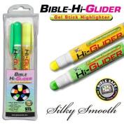 Bible-Hi-Glider Gel Stick - Yel/Grn 2/Pk