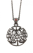 Pewter Celtic Knotwork Heart Design Pendant Necklace