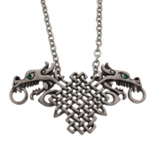 Celtic Knotwork Double Dragon Pendant & Necklace