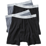 Hanes - Big Men's 4-Pack Assorted Boxer Briefs, Size 2XL